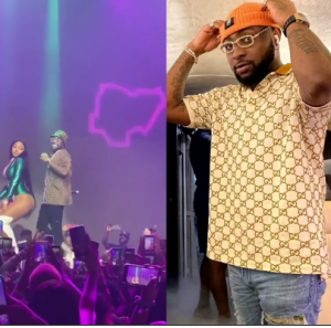 Photo of Megan the Stallion and Davido on stage