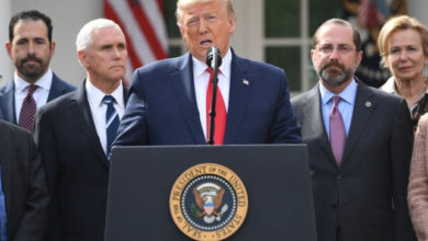 Coronavirus: Trump declares national emergency, warns he may add UK to list of 26 countries banned from traveling to the US
