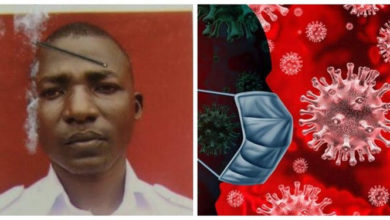 Photos of naval officer who allegedly fled isolation center in Delta state after not being allowed to smoke weed